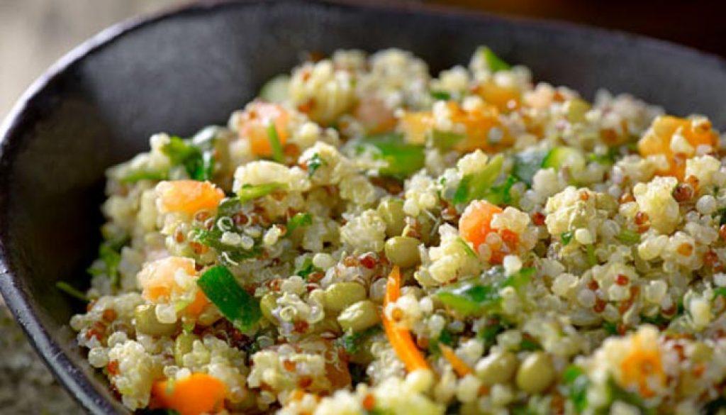 Quinoa prato Típico da Bolívia
