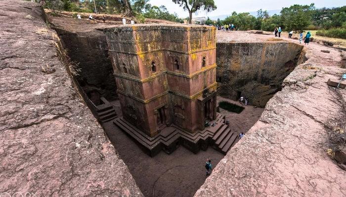 igrejas escavadas na rocha de Lalibela