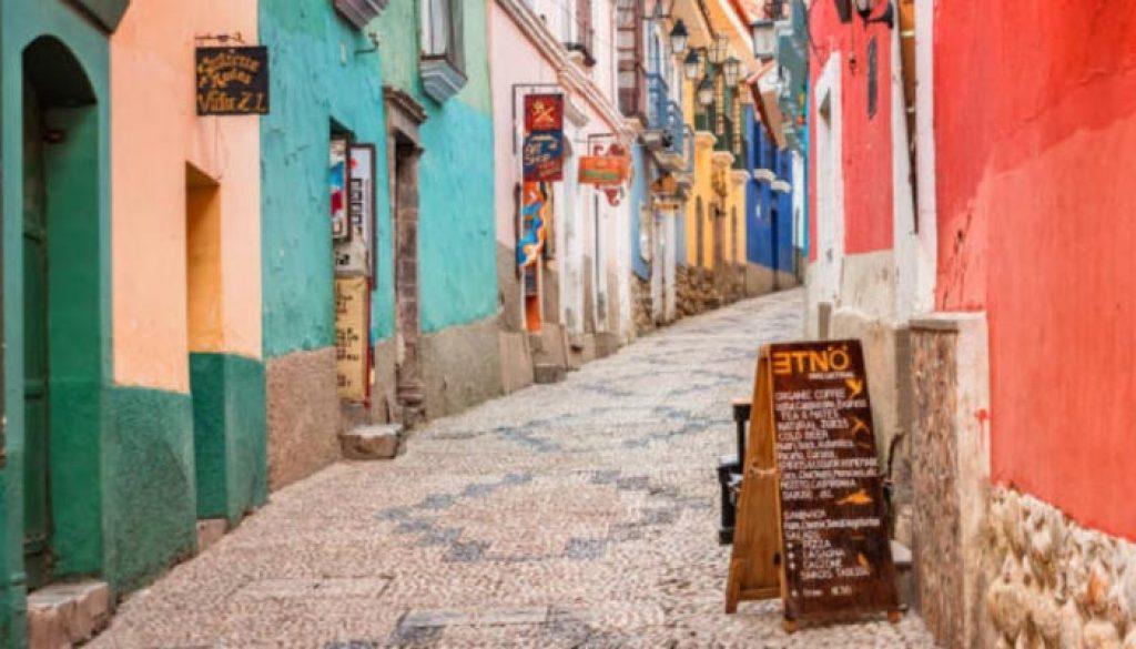 ruas antigas da Bolivia