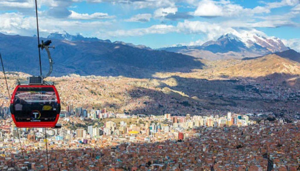 teleferico Bolivariano em La Paz