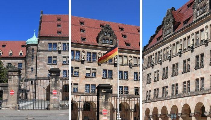 Palácio da justiça de Nuremberg Cidade na Alemanha